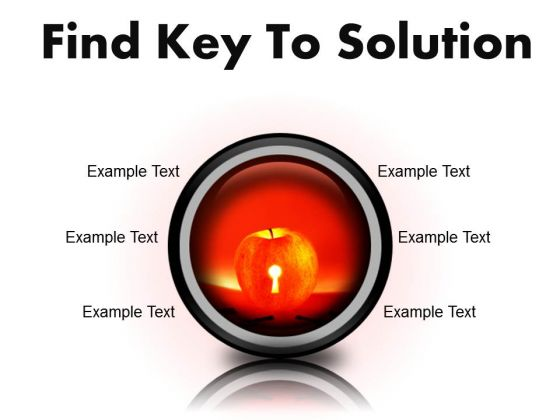 Find Key To Solution Business PowerPoint Presentation Slides Cc