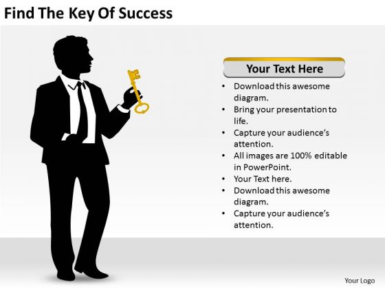Find The Key Of Success Ppt Business Plan PowerPoint Slides