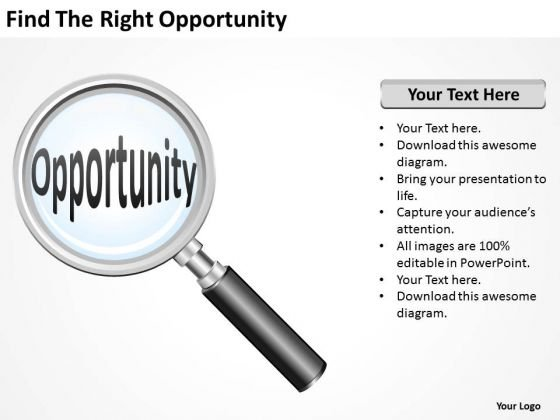 Find The Right Opportunity Ppt Elements Business Plan PowerPoint Templates