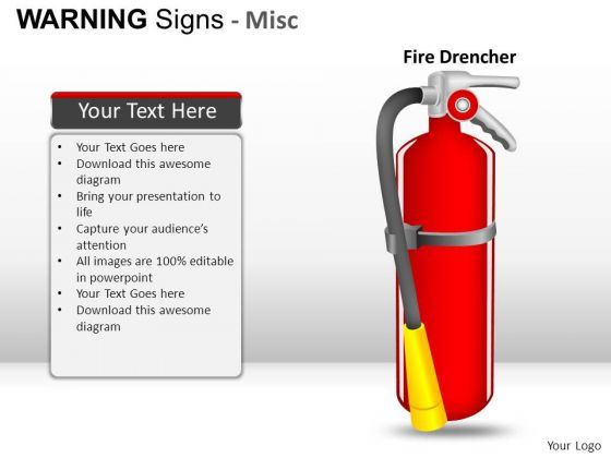 Fireprotection Warning Signs PowerPoint Slides And Ppt Diagram Templates