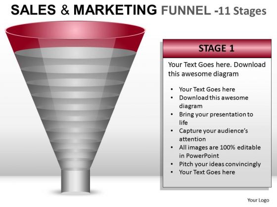 First Stage Sales And Marketing Funnel 11 PowerPoint Slides And Ppt Diagram Templates