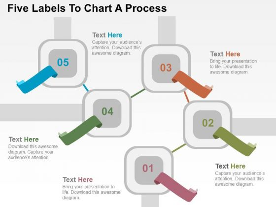 Five Labels To Chart A Process PowerPoint Templates
