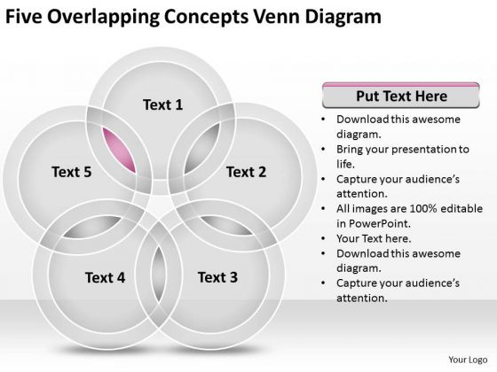 Five overlapping concepts venn diagram ppt business plan software five overlapping concepts venn diagram ppt business plan software powerpoint slides powerpoint templates ccuart Image collections