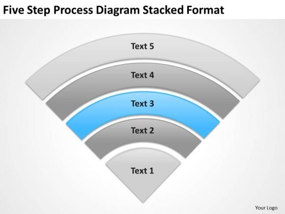 Five Step Process Diagram Stacked Format Ppt Cheap Business Plan PowerPoint Templates