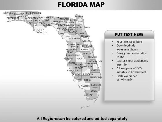Florida PowerPoint Maps