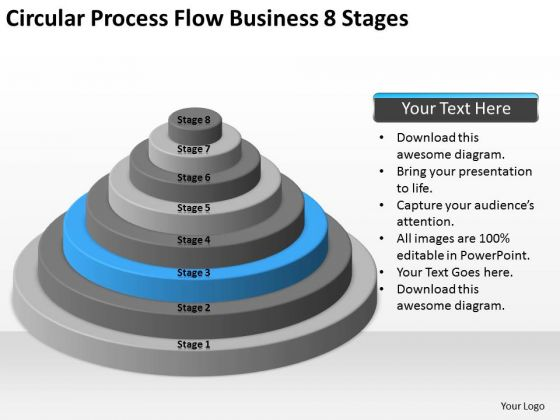 Flow Business 8 Stages Ppt What Is An Executive Summary Plan PowerPoint Slides