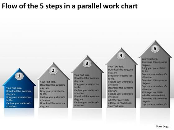 Flow Of The 5 Steps In A Parallel Work Chart Business Plan Proposal PowerPoint Templates