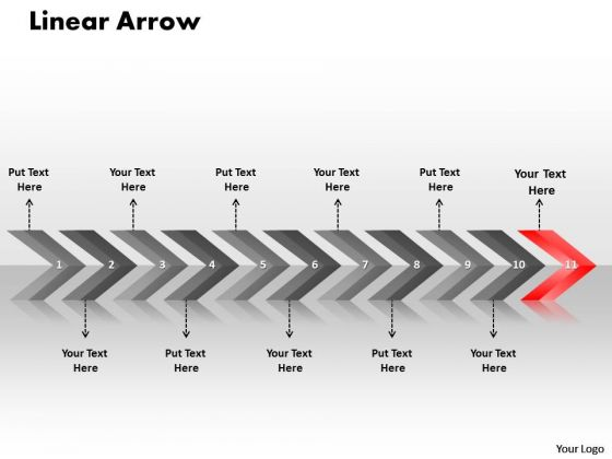 Flow PowerPoint Template Linear Ppt Arrows 11 States Diagram 12 Design