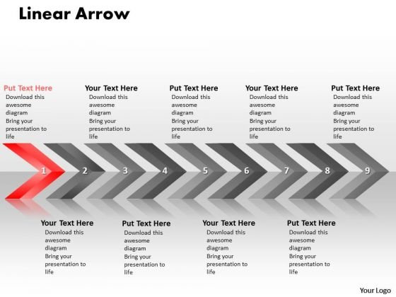 Flow Ppt Background Linear Arrows 9 Stages Operations Management PowerPoint 2 Design