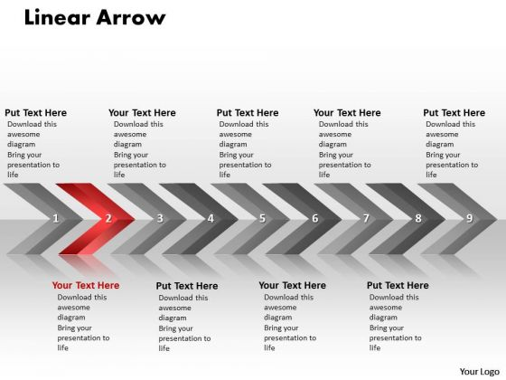 Flow Ppt Background Linear Arrows 9 Stages Operations Management PowerPoint 3 Design