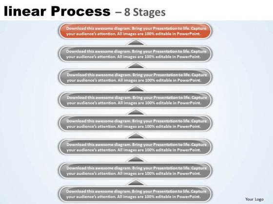 Flow Ppt Linear Process 8 Stages Business Strategy PowerPoint 9 Graphic