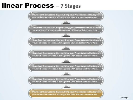 Flow Ppt Template Linear Process 7 Power Point Stage Business Management PowerPoint 2 Image