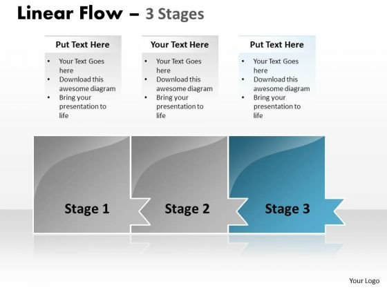 Flow Ppt Theme Colorful Model Of 3 Stages Project Management PowerPoint 4 Design