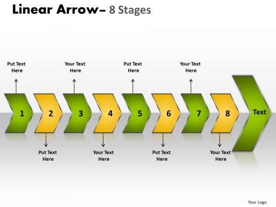 Flow Ppt Theme Succedent Description Of 8 Arrows Project Management PowerPoint 1 Design