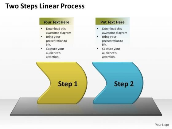 Flow Ppt Two Steps Linear Process Communication Skills Powerpoint