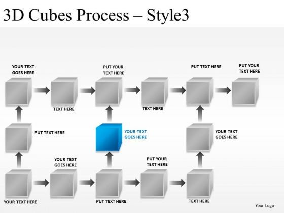 Flow Process 3d Cubes Process PowerPoint Slides And Ppt Diagram Templates