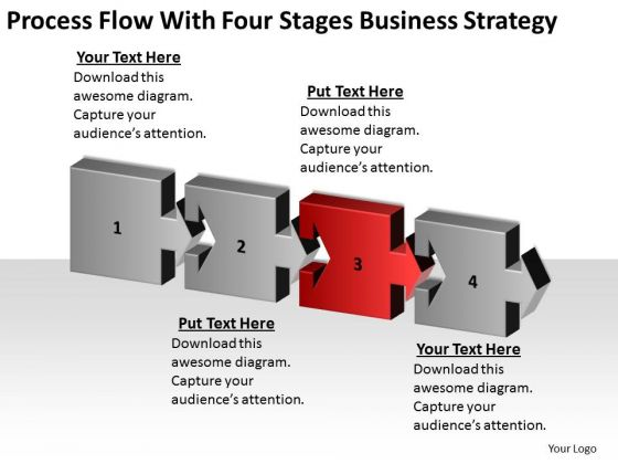 Flow With Four Stages Business Growth Strategy Ppt Doing Plan PowerPoint Templates