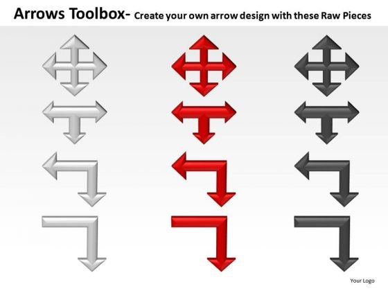 Flowchart Arrows Toolbox PowerPoint Slides And Ppt Diagram Templates