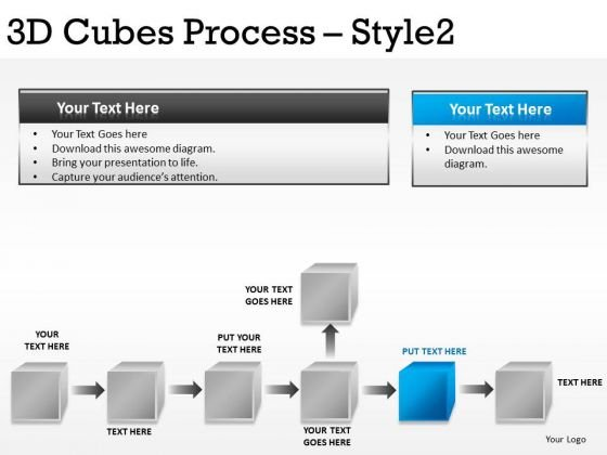 Flowchart Cubes PowerPoint Slides And Ppt Diagram Templates
