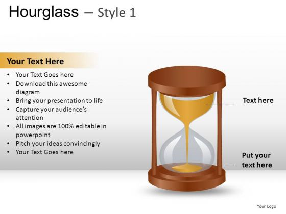 Flowing Glass Hourglass 1 PowerPoint Slides And Ppt Diagram Templates