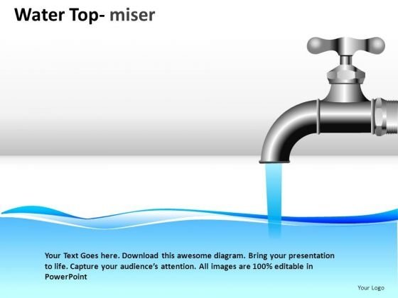 Flowing Water Tap PowerPoint Slides And Ppt Diagram Templates