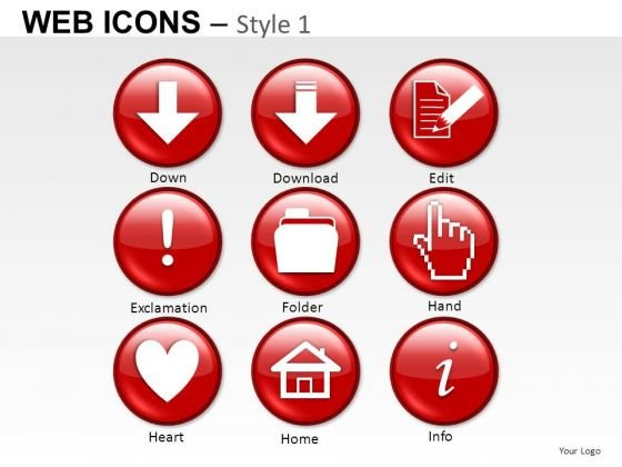 Folder Home Web Icons PowerPoint Slides And Ppt Diagram Templates