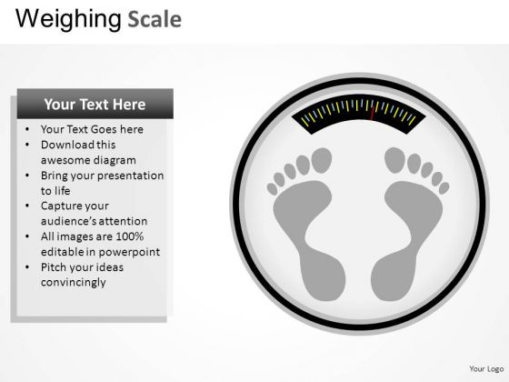 Footprint Weighing Scale PowerPoint Slides And Ppt Diagram Templates