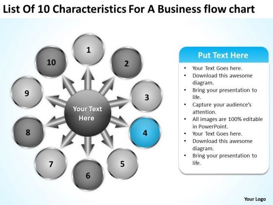 For A Free Business PowerPoint Templates Flow Chart Business Circular Process Slides