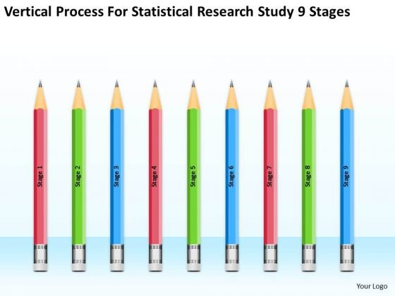 For Statisctical Research Study 9 Stages Ppt Business Plan PowerPoint Slides