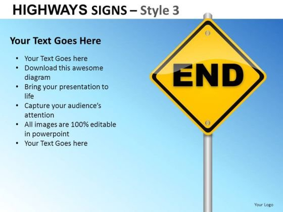 Forbidden Guide Highways Signs 3 PowerPoint Slides And Ppt Diagram Templates