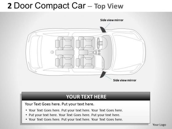 Ford 2 Door Gray Car Top PowerPoint Slides And Ppt Diagram Templates