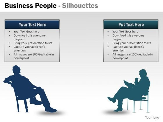 Formal Business People Silhouettes PowerPoint Slides And Ppt Diagram Templates