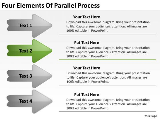Four Elements Of Parallel Process Business Plan PowerPoint Slides