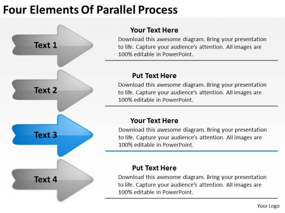Four Elements Of Parallel Process Consultant Business Plan PowerPoint Templates