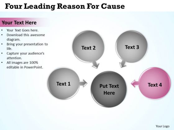 Four Leading Reason For Cause Ppt Circular Flow Process PowerPoint Slides