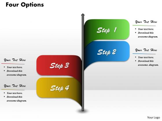 Four Options Diagram For PowerPoint Presentation Template