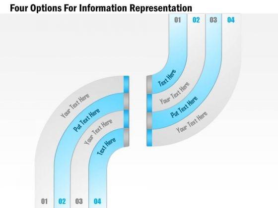 Four Options For Information Representation Presentation Template