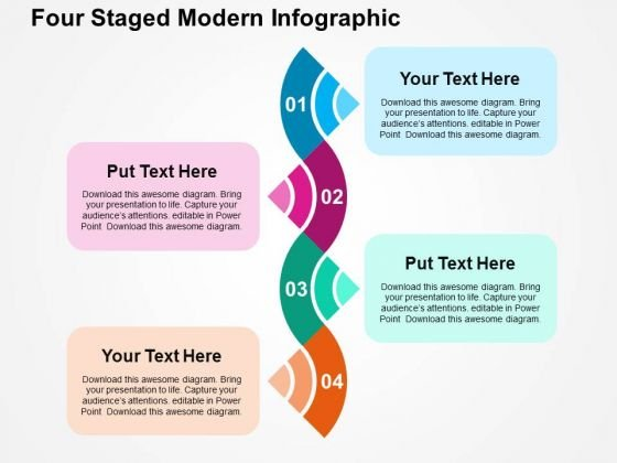Four Staged Modern Infographic PowerPoint Template