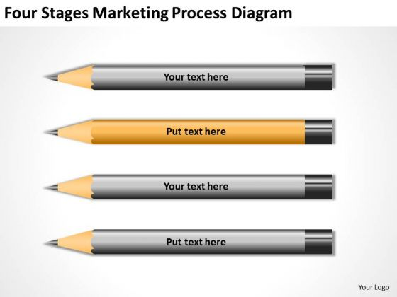 Four Stages Marketing Process Diagram Ppt Business Plan Service PowerPoint Slides