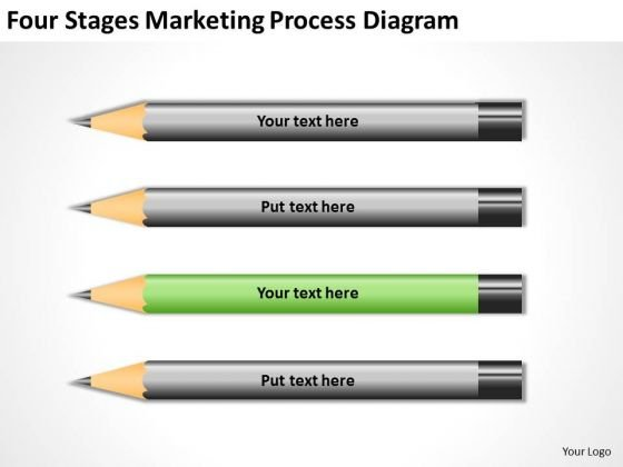 Four Stages Marketing Process Diagram Ppt New Business Plan PowerPoint Slides