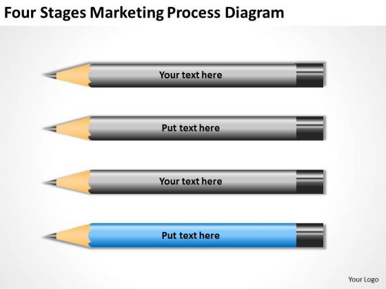 Four Stages Marketing Process Diagram Standard Business Plan PowerPoint Slides