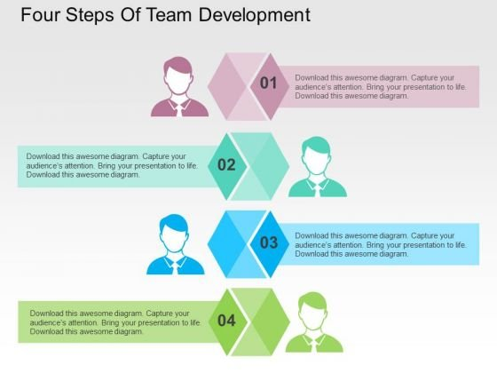 Four Steps Of Team Development PowerPoint Templates - PowerPoint ...