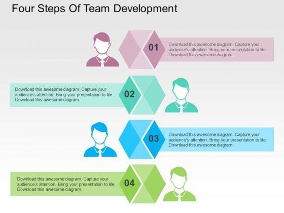 Four Steps Of Team Development PowerPoint Templates
