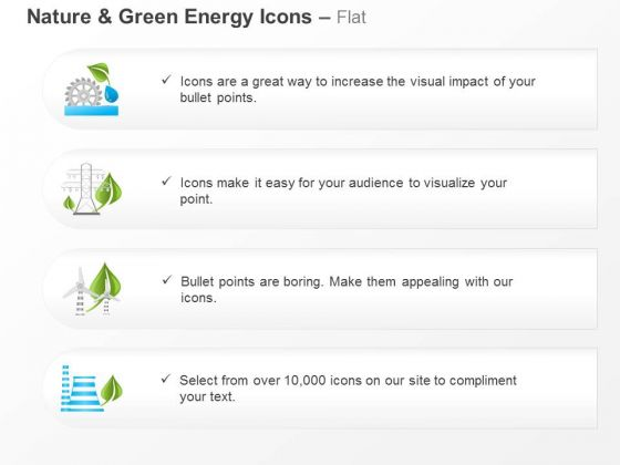 Four Text Icons For Environmental Safety And Green Energy Ppt Slides Graphics