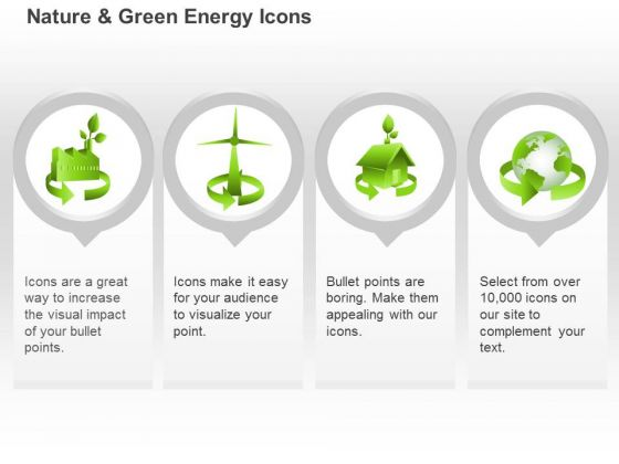 Four Unique Symbols For Green Energy Use Ppt Slides Graphics