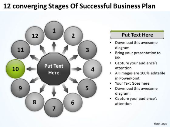 Free Business PowerPoint Templates Plan Circular Flow Process
