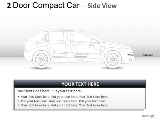 Front Design 2 Door Gray Car Side PowerPoint Slides And Ppt Diagram Templates