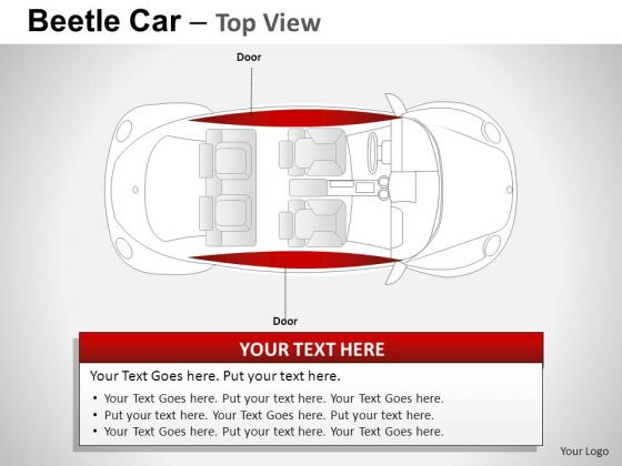 Front Red Beetle Car PowerPoint Slides And Ppt Diagram Templates