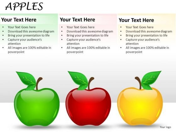 Fruit Apples PowerPoint Slides And Ppt Diagrams Templates