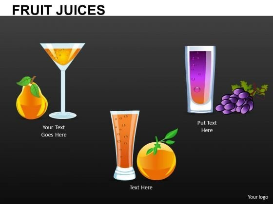 Fruit Juice Cocktail Editable PowerPoint Ppt Slides